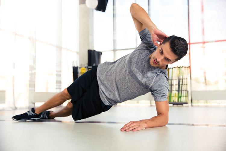 Man doing planks