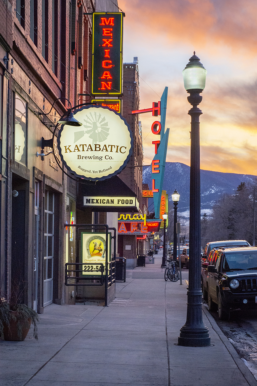 Downtown Livingston, Montana