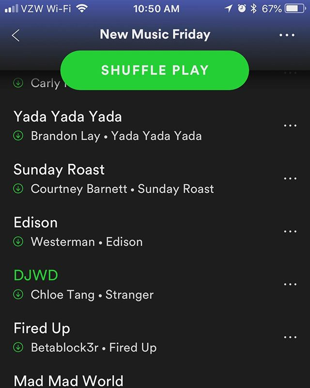 "Wow! Big thanks to @spotify for adding @chloetangmusic song ""DJWD"" to their new music Friday playlist! Check it out! link in bio! #strangerep #tanggang #camrecords #newmusicfriday"
