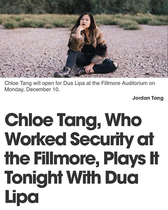 congrats to alumni @chloetangmusic for opening up for @dualipa this past Monday!! check out the article at @denverwestword