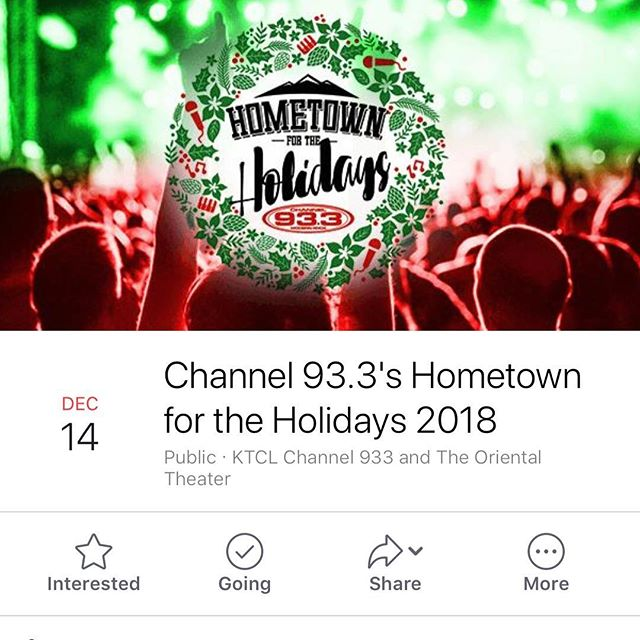 Come out to the @theorientaltheater tomorrow for Hometown for the Holidays hosted by KTCL Channel 933. With music from @oneflewwestband, My Body Sings Electric, and others. Its a free show and it's going to be a great night! https://www.facebook.com/events/261563684468446/?ti=icl