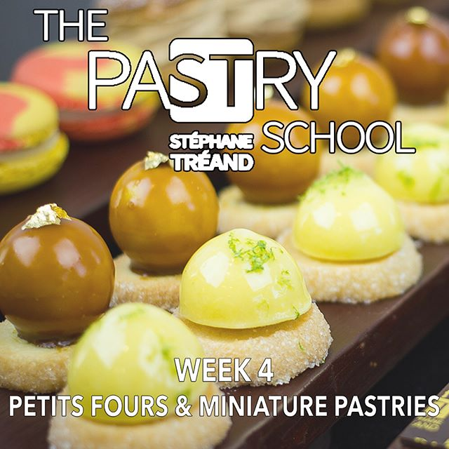 My 5 Day/Week 4 Class begins tomorrow (March 6th)! Register today so you don't miss out on learning how to make mini pastries by me!  http://thepastryschool.org/5-day-classes/week4
