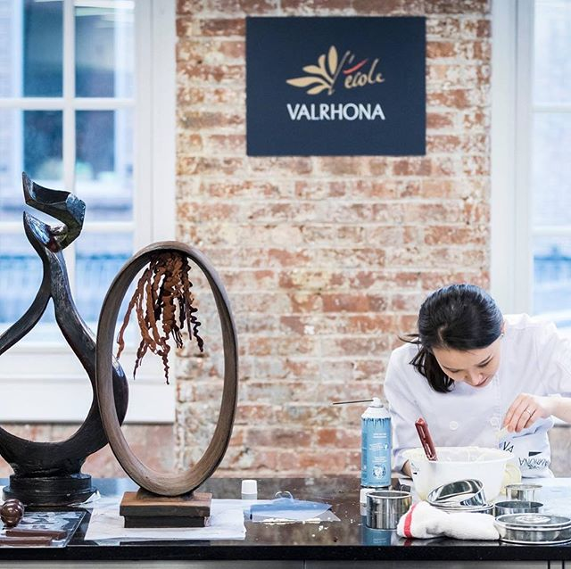 I'm in Brooklyn this week teaching a special Artistic Chocolate Showpiece class at L'Ecole Valrhona Brooklyn. 🍫