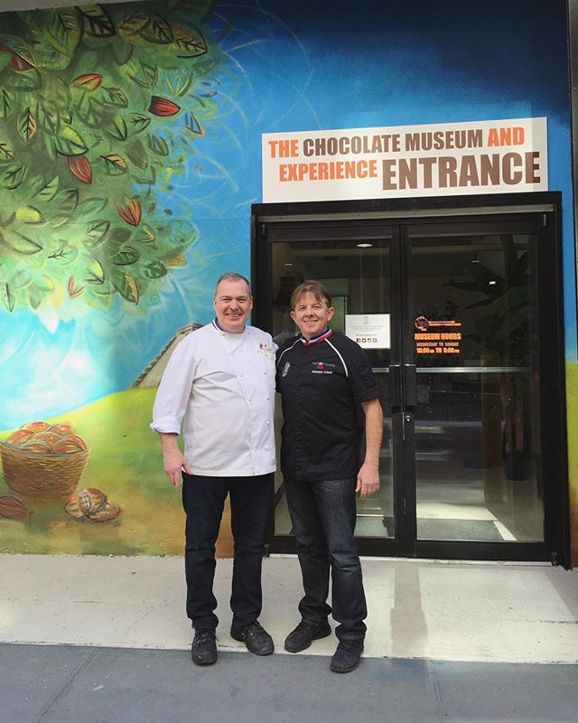 With my friend Jaques Torres in New York, at his new Museum of Chocolate in Manhattan. Did you know he was the first M.O.F. Pâtisserie Chef here in the States?