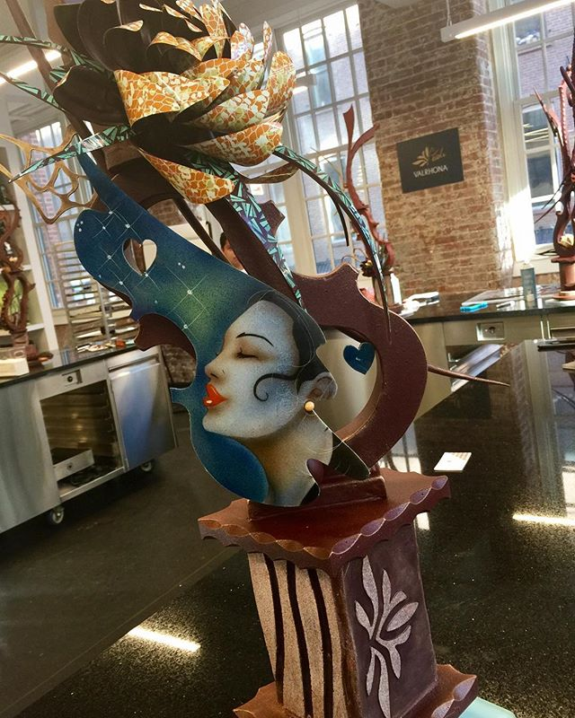 My Artistic Chocolate Showpiece from when I was in Brooklyn teaching class at Valrhona.