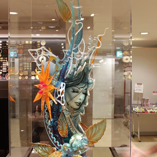 A demo sugar showpiece I made in Tokyo, Japan.