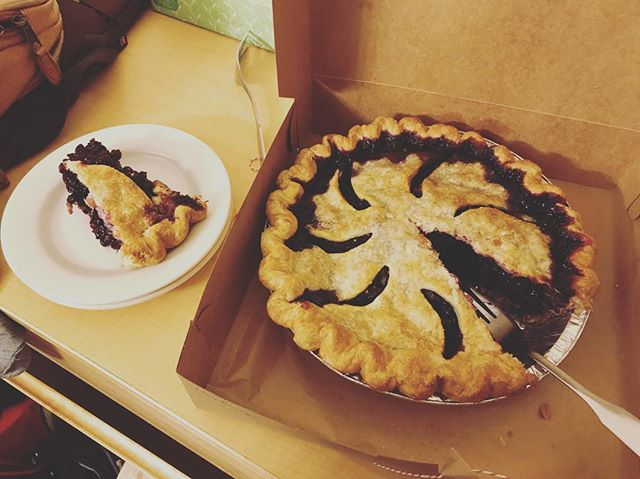 played a couple tunes at a graduation party and were compensated with a @florencepiebar pie. Tonight we'll be at @theablebaker in Maplewood, NJ if you're craving something sweet!