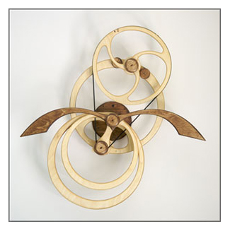Journey Kinetic Wall sculpture by David Roy