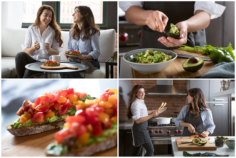 lifestyle photography of gaucamole and avocado toast