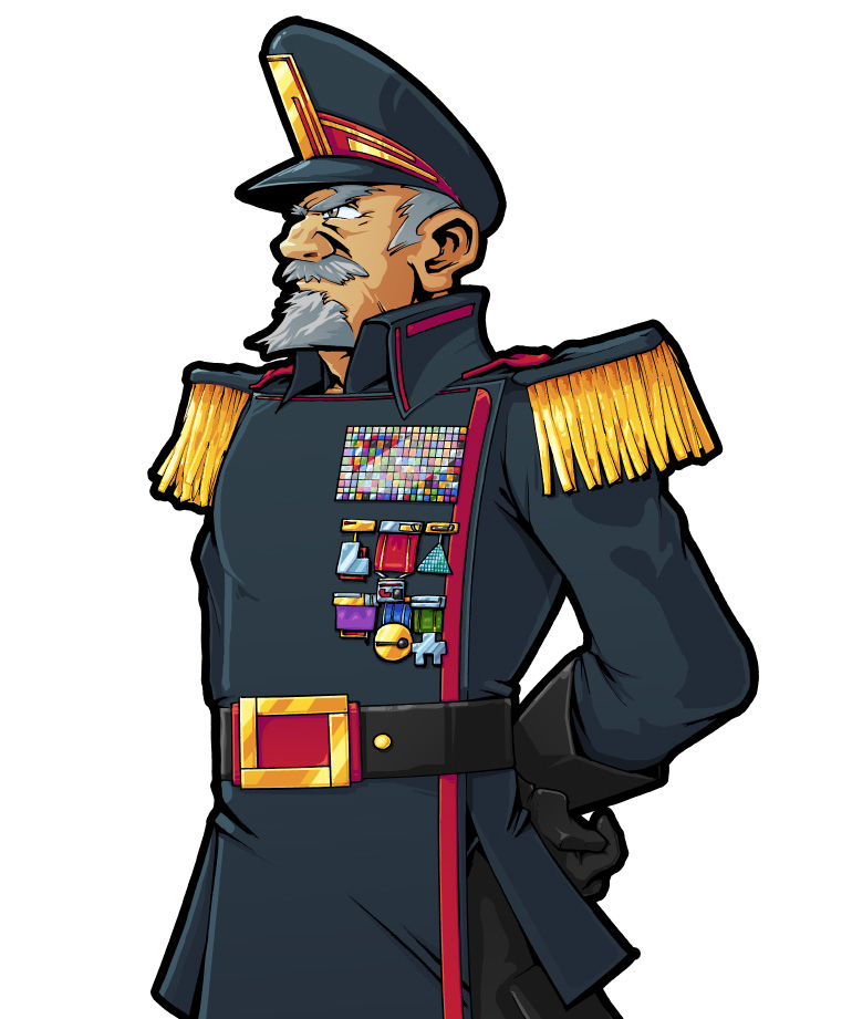 General Bauhaus - dictator and generally not a great guy.  Pencils & Inks Eric Kim, Colours Miguel Sternberg.