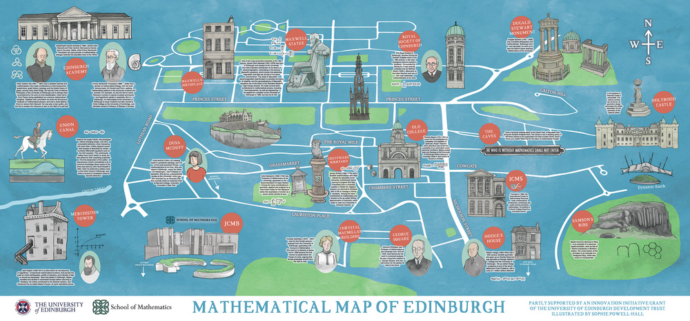 Mathematical Map of Edinburgh sophie powellhall illustration
