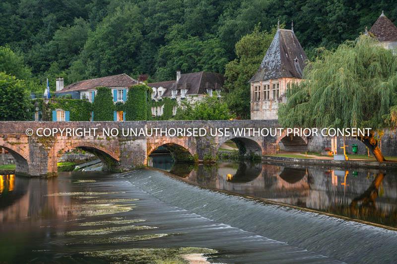 BRANTOME BRIDGE by Peter Fortune.jpg