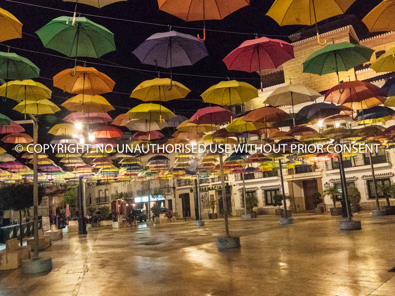 UMBRELLAS AT NIGHT by Peter Fortune.jpg