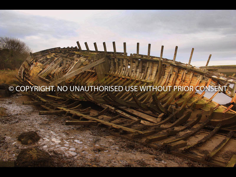 SKELETON OF WRECKED FISHING BOAT by John Warren.jpg