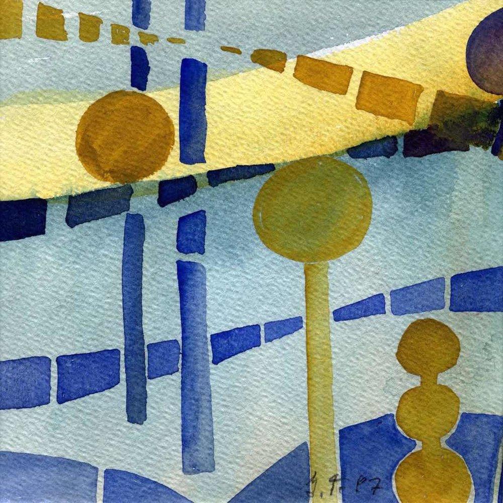 Blue Lines Dots #17