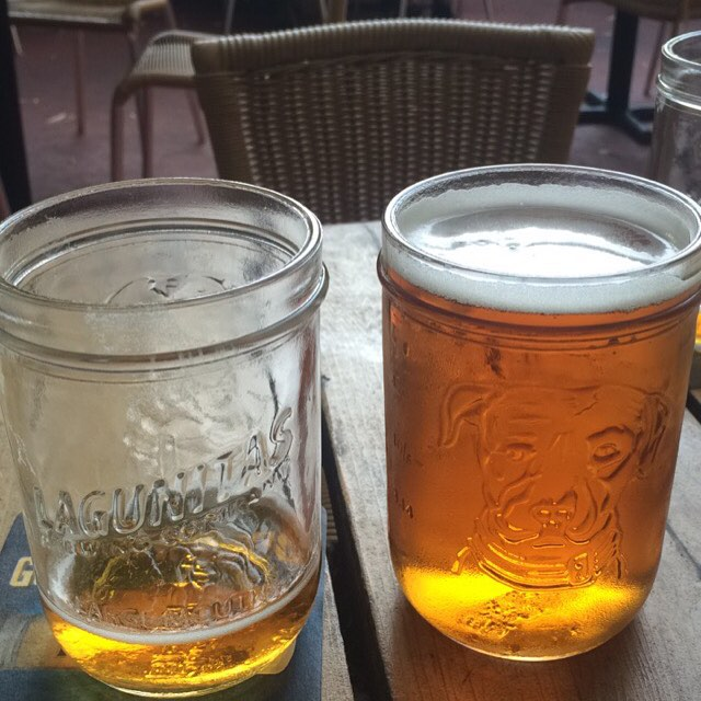 Loving the Lagunitas mason jars on this fine afternoon! #craftbeer #patio #toronto #SavingBeer