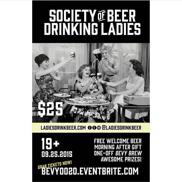 Happy to be a part of the @ladiesdrinkbeer event going on tonight!!