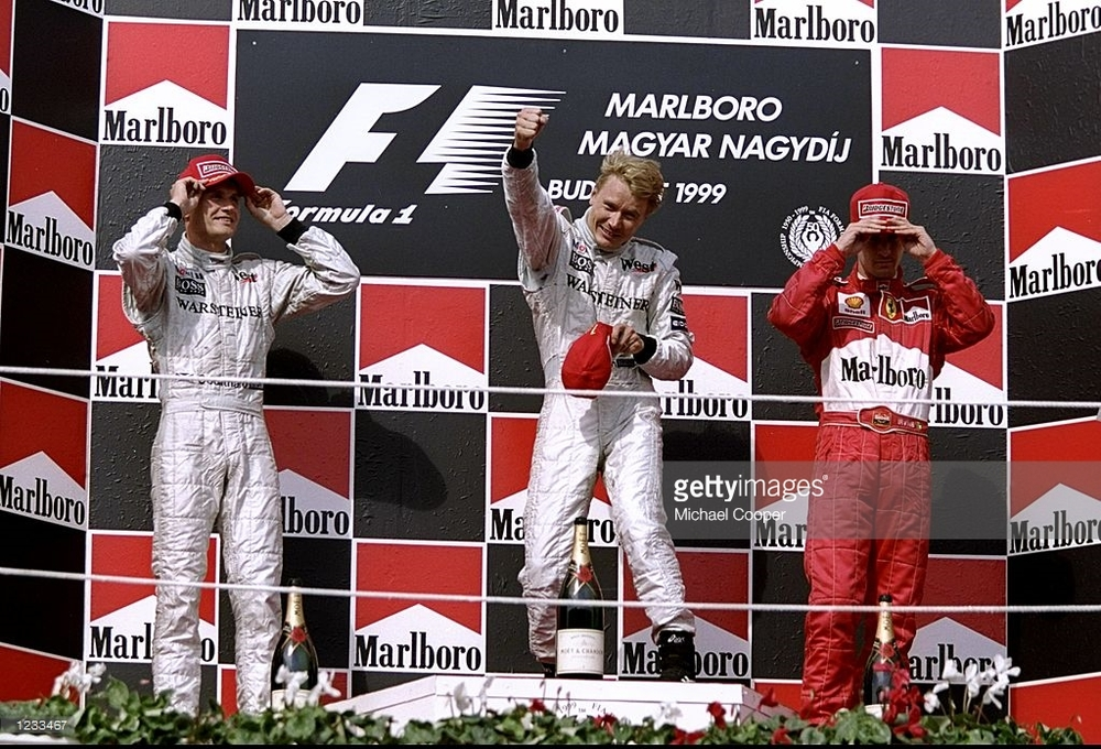 Mika Hakkinen, 1999-2000 F1 World Champion    photo: getty images