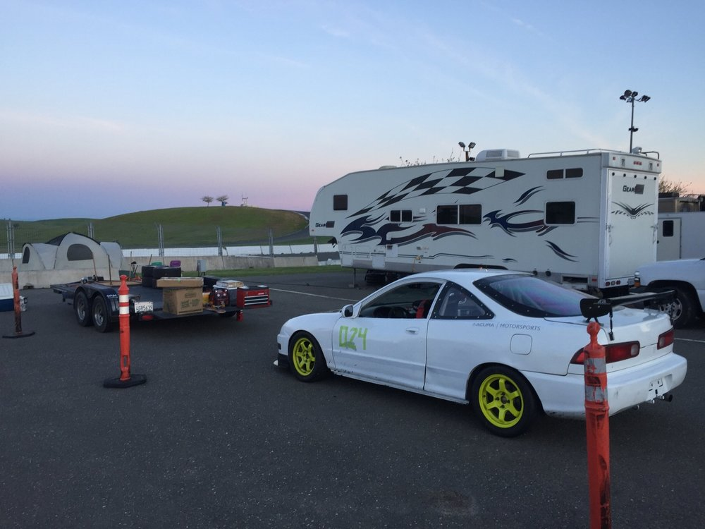 GriffeyDreams Racing's (GDR) Team Paddock and Pit area. RV not included, but one day?