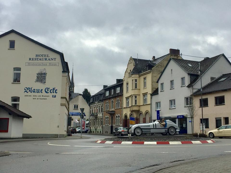 the sleepy little town of Adenau, Germany next to the Nordschleife