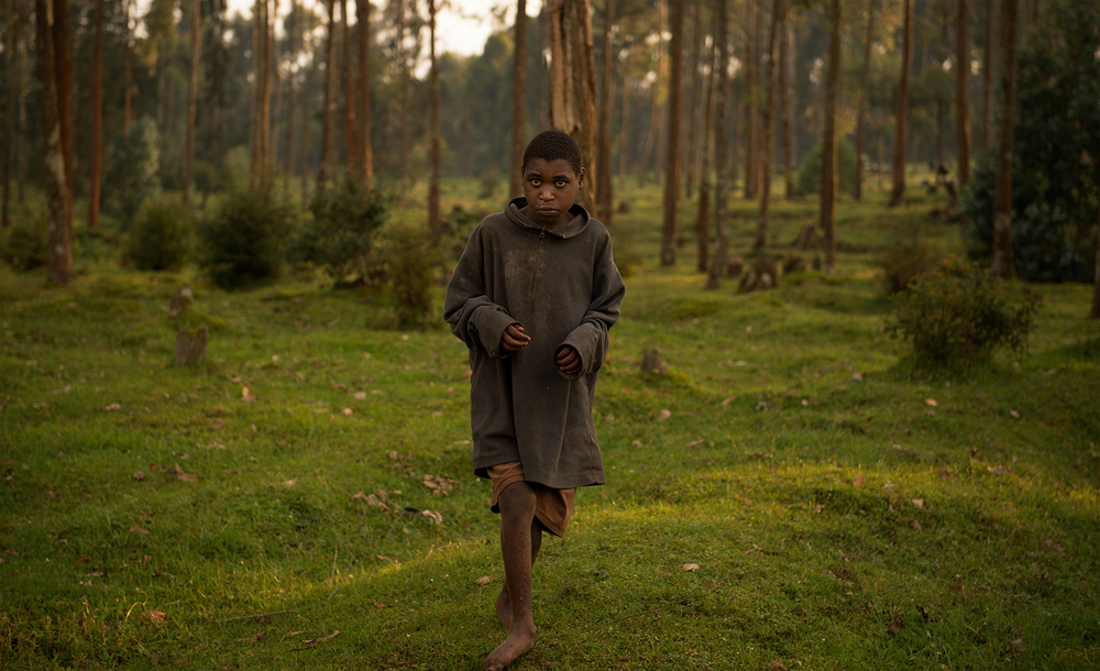 Boy at the edge of the woods, Rwanda