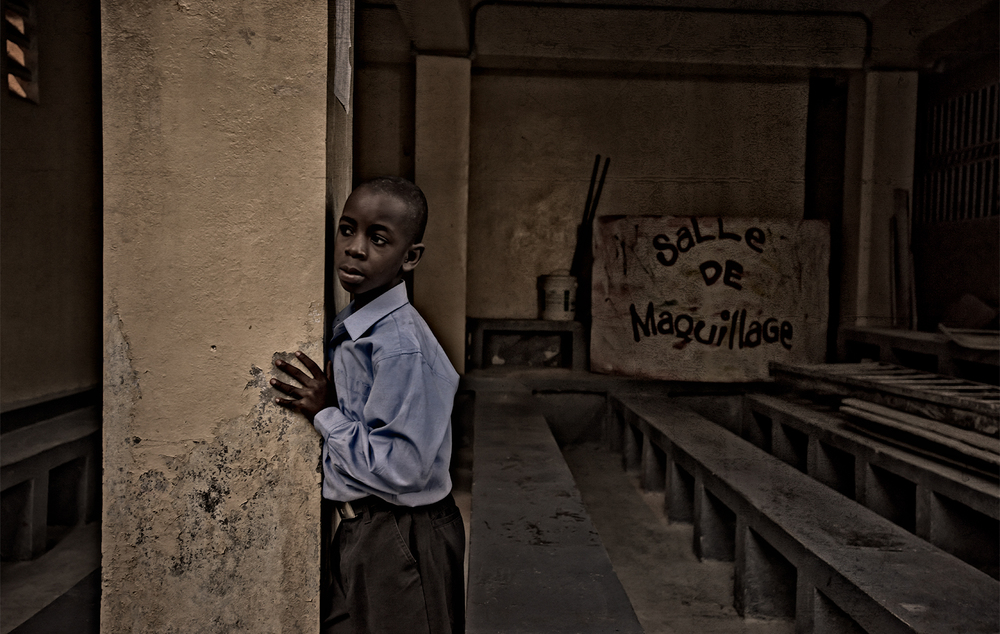 Orphan school boy, Haiti