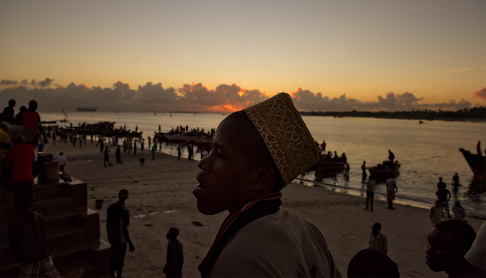 Boy at the shore, Dar Es Salaam
