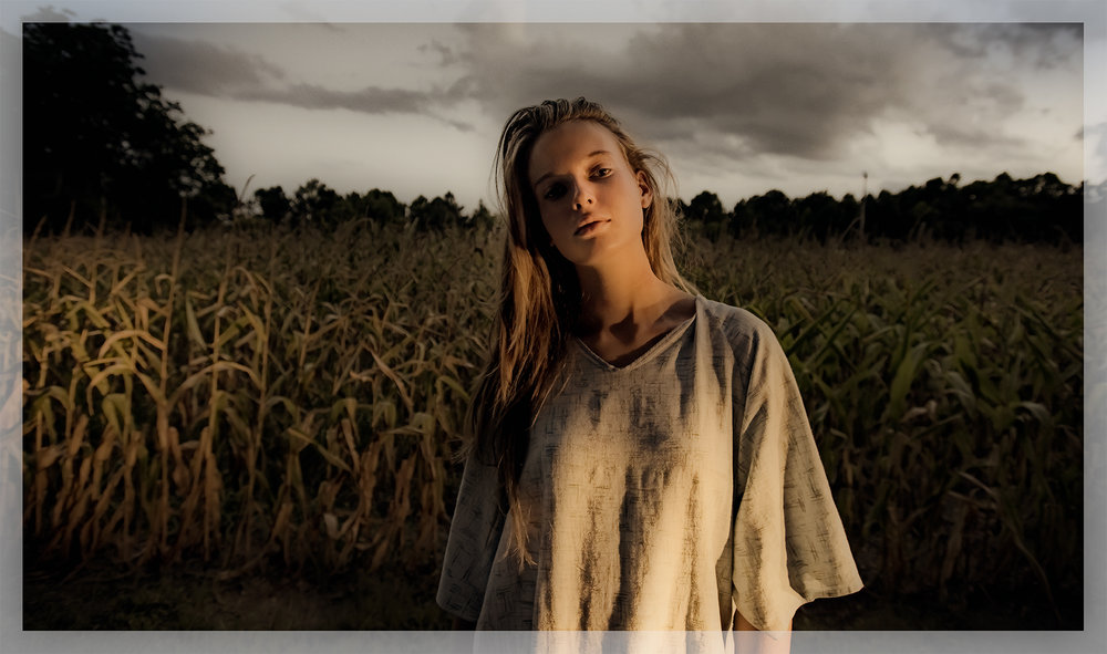 Girl in a field, Suffolk, Va
