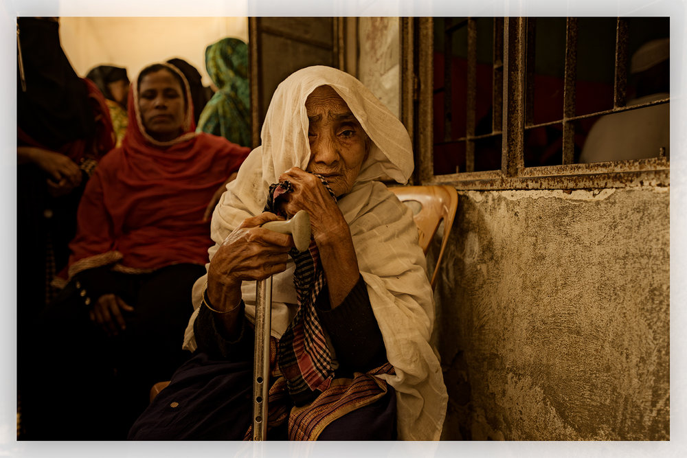 Woman with cataracts, Bangladesh