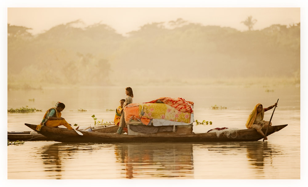 Women on boats, Bangladesh