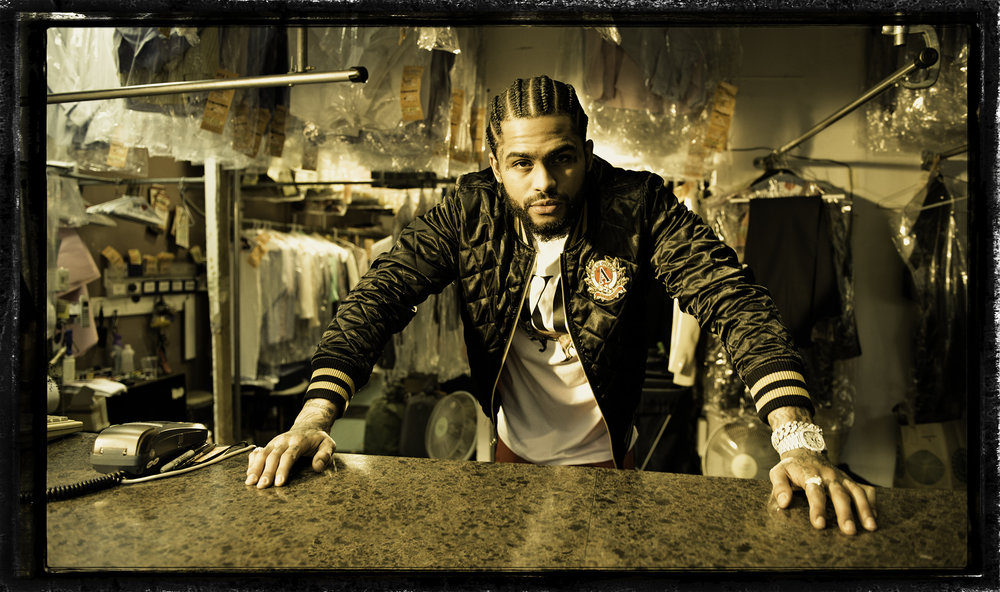 Rapper Dave East for AKOO in Harlem, May 16.
