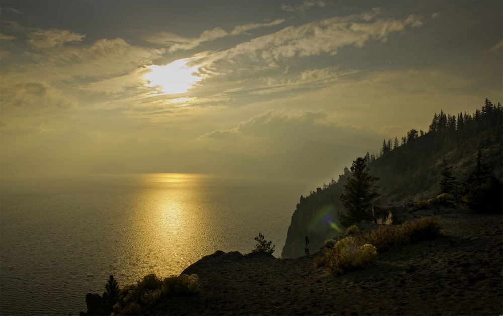 Crater Lake, Oregon on September 29th.
