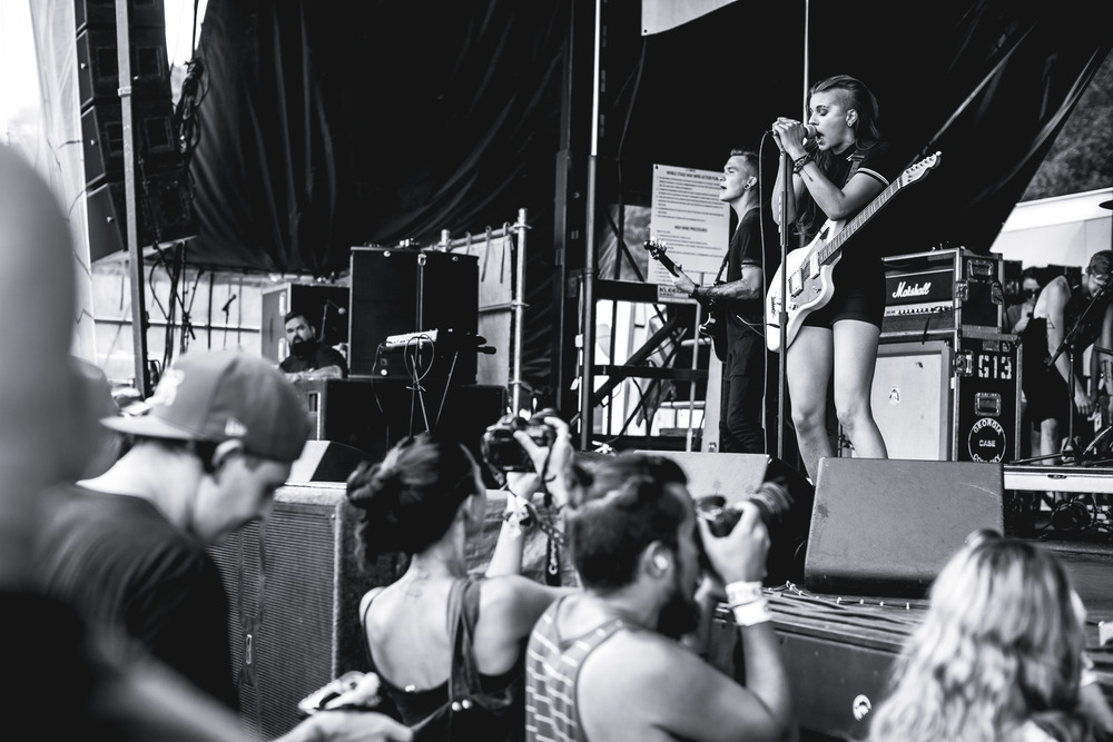 View from the photo pit for PVRIS.