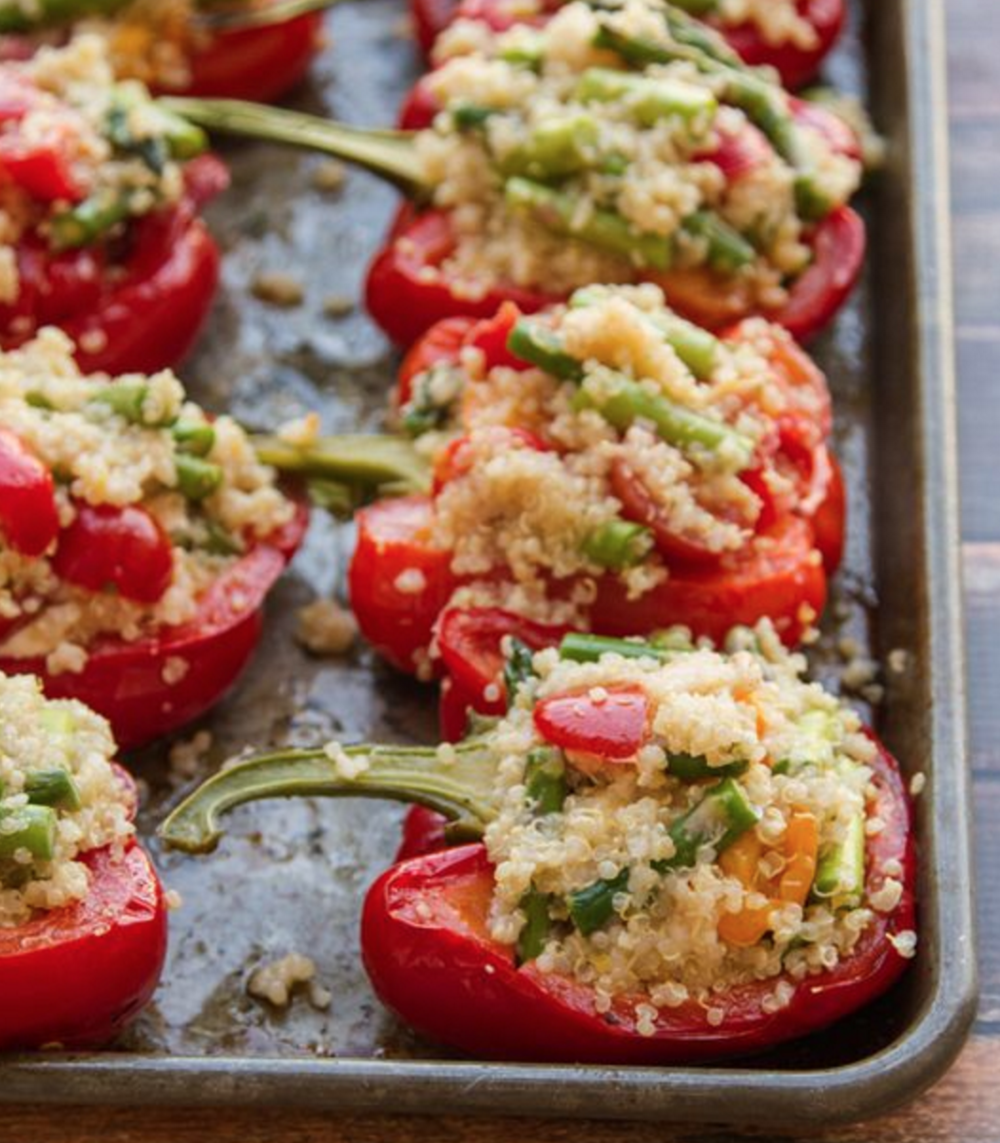 Stuffed Peppers for the Modern Mom! I LOVE THESE!