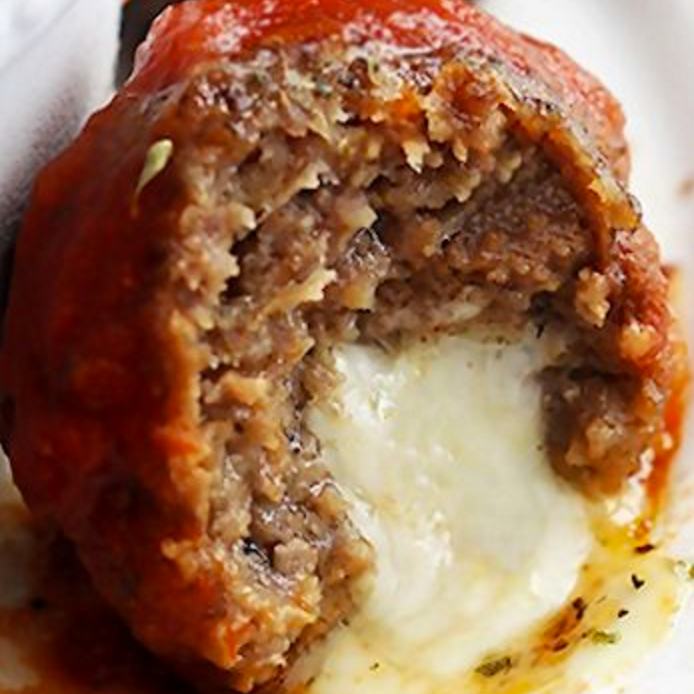 Meatballs stuffed with Cheese!!! Need I say more...delicious.