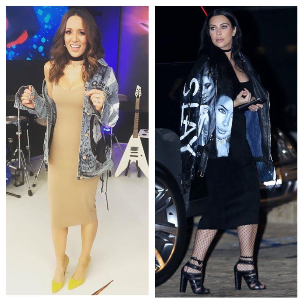 Kim Kardashian - #getmylookDress: BSBShoes: Nak ShoesJacket: BSBInspired by: Kim Kardashian West