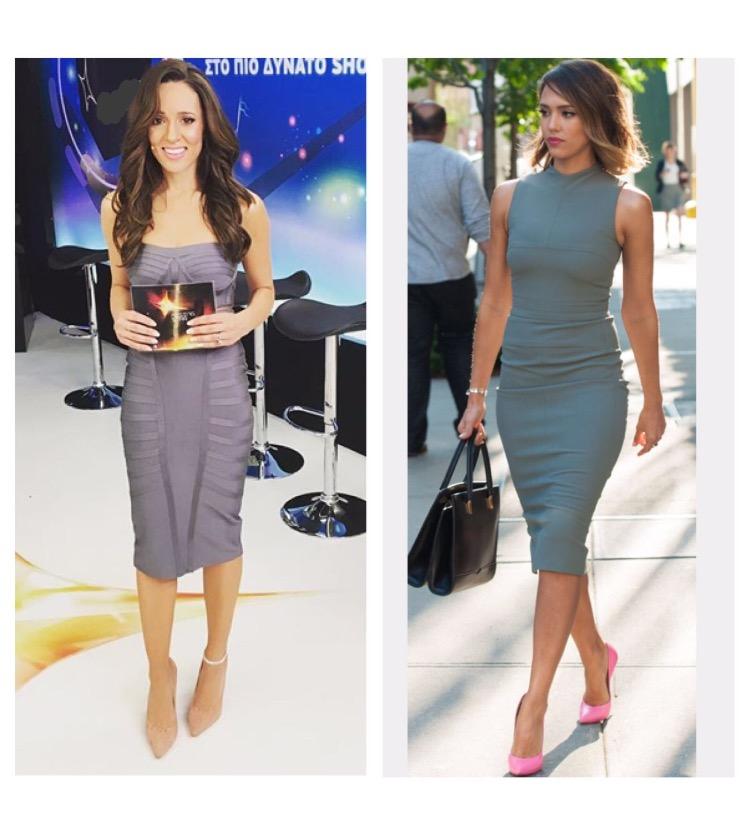 Jessica Alba - #getmylookDress: BSBShoes: Mark Milan ShoesAnkle Bracelet: Enriko Ankle BracletInspired by: Jessica Alba *the Boss look