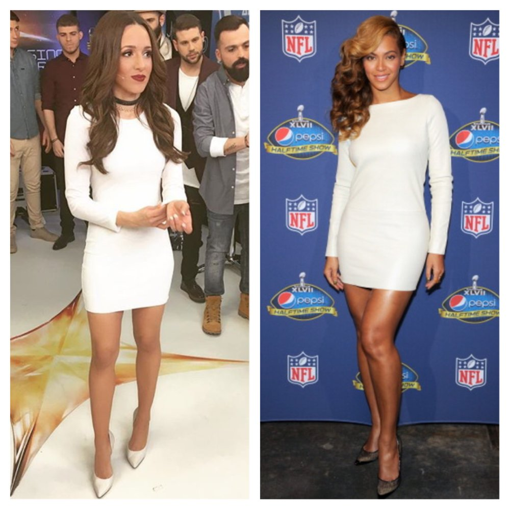 Beyonce - #getmylookDress:BSB Shoes: Steve MaddenChoker:H&MInspired by: Beyonce