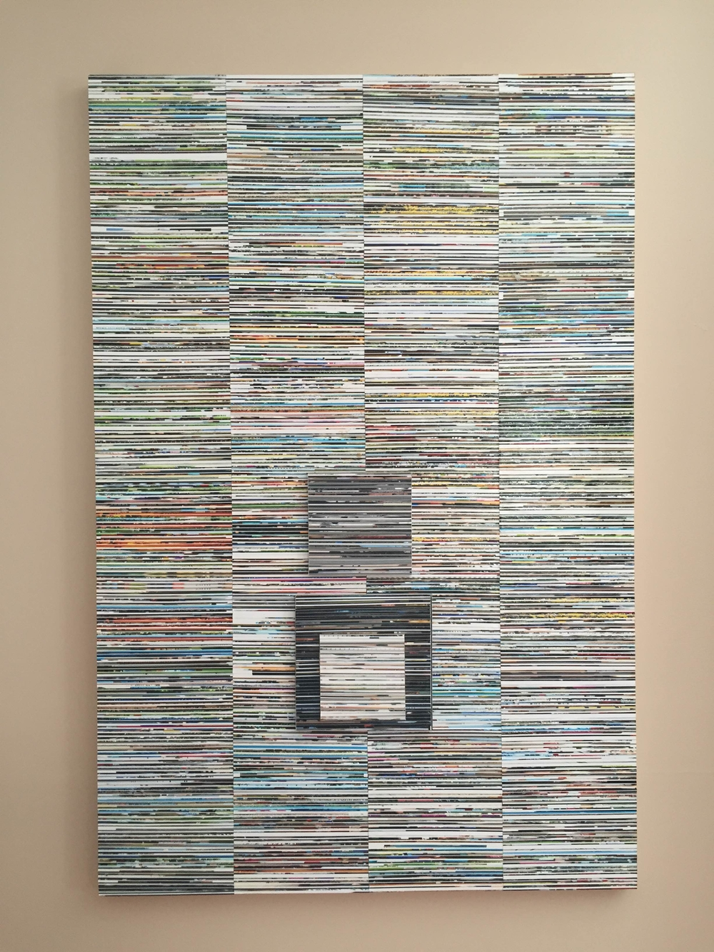 """""""You Know How Much I Hate Being Lied Too""""  2015  24x36""""  Gloss gel medium, photo clippings on wood"""