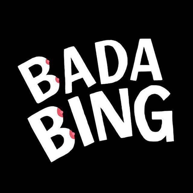 figured I'd memorialize Bada Bing for #sopranos20 because c'mon  @hbo #thesopranos #tonysoprano #handlettering #typography