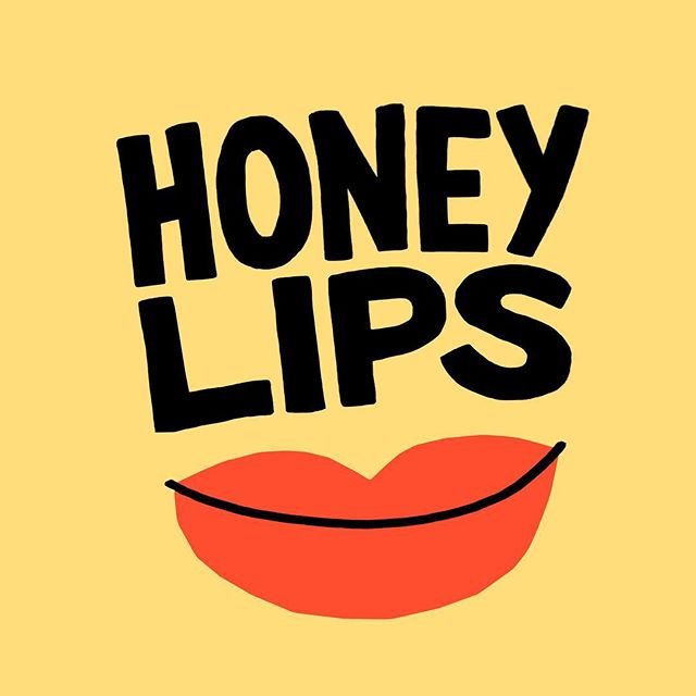 honey lips @part_time_la #graphicdesign #lettering #goodtype