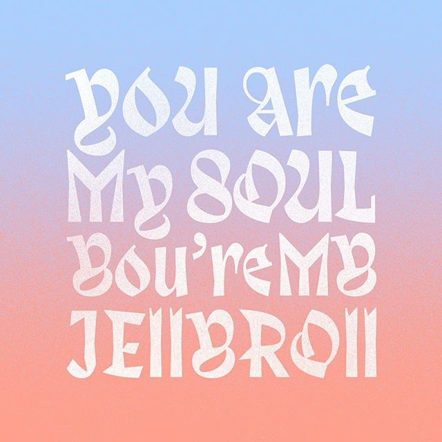 you are my soul, you're my jelly roll font by @velvetyne_type_foundry  #harmarsuperstar @harmarsuperstar #songlyrics #typography