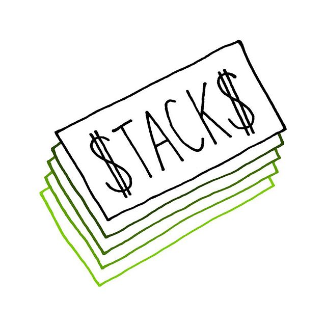 stacks on stacks 💵💴💶💷 #handlettering #illustration