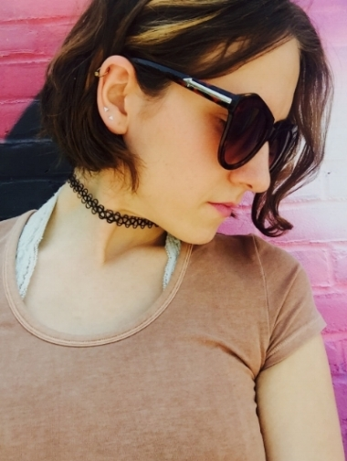 Silence + Noise Reggie Cropped Tee at Urban Outfitters. Tattoo Choker Necklace online only at Urban Outfitters.