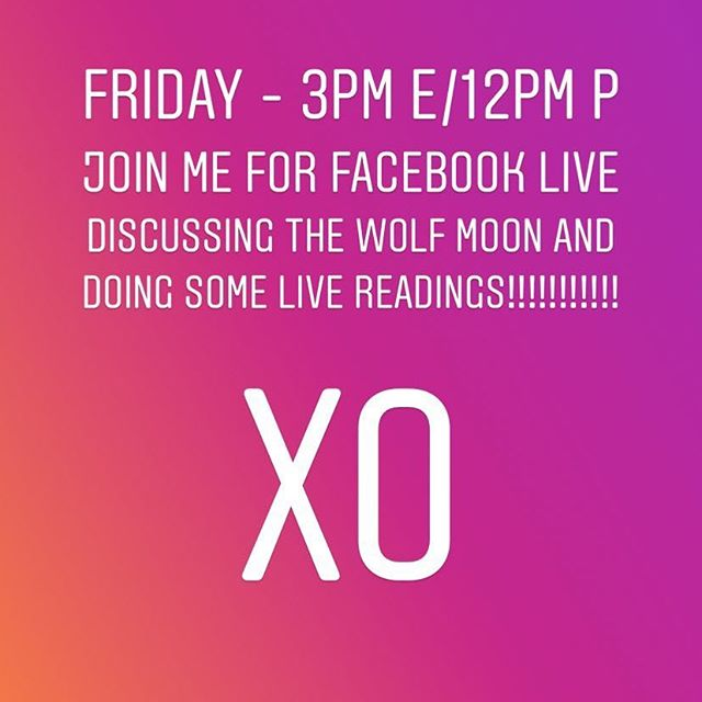 Join me tomorrow for a FACEBOOK Live as we discuss the powerful energy of this upcoming full moon, and how we can start the New Year off by making the most of working together. We are all one after all ❤️