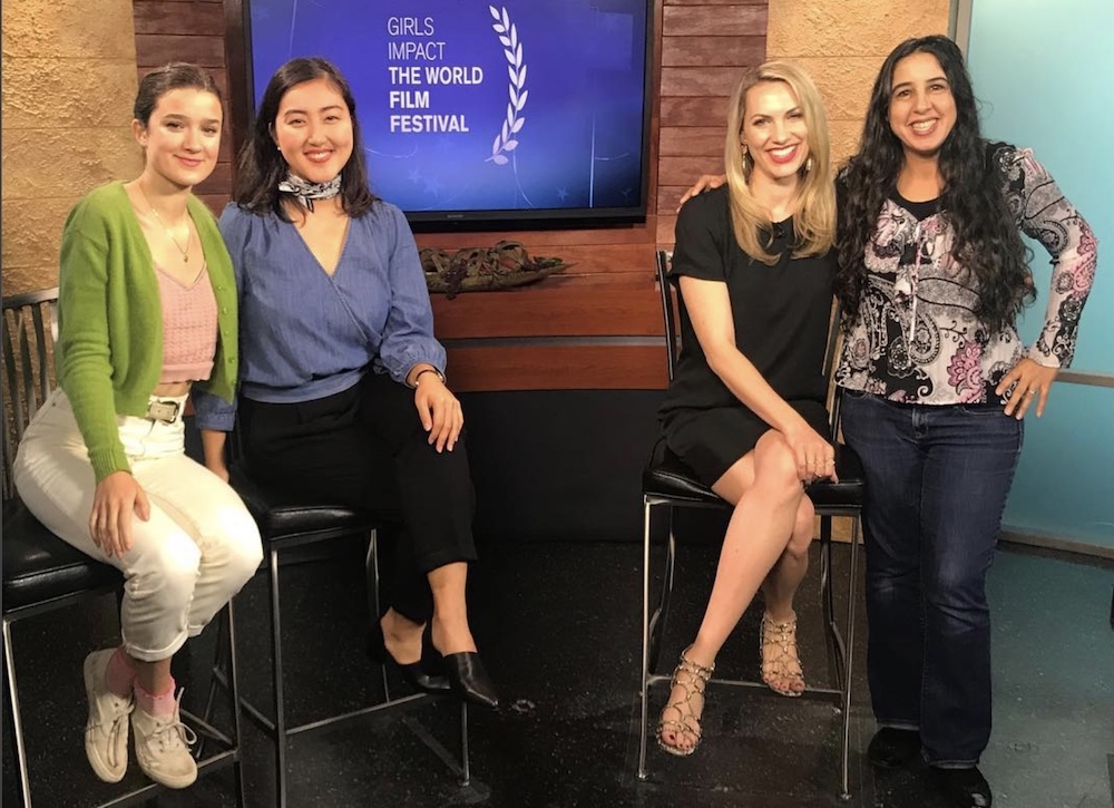 The ladies of Girls Impact the World Film Festival on We Are Austin in 2018.