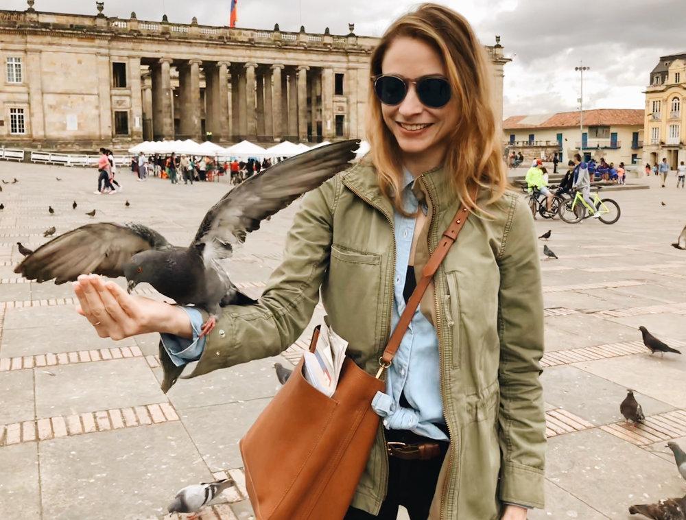 Sarah Frankie Linder in Bogotá, Colombia.