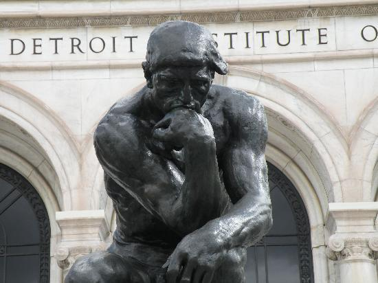 """Thinker"", by Rodin.  Detroit Institute of Art"