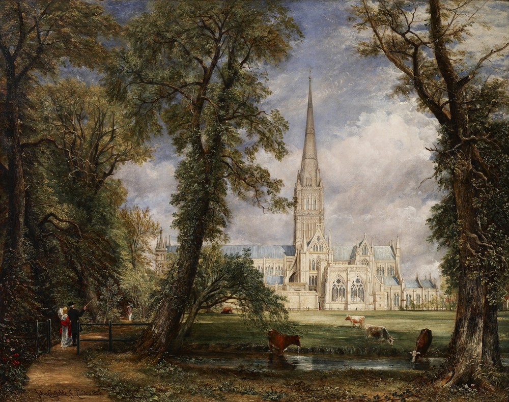 John Constable, Salisbury Cathedral from the Bishop's Garden, 1823