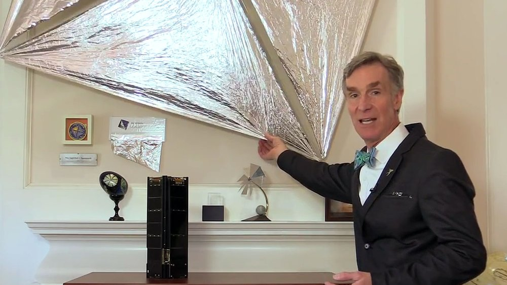 Bill Nye explains  how ancient kite technology   is behind the cutting edge of space exploration.